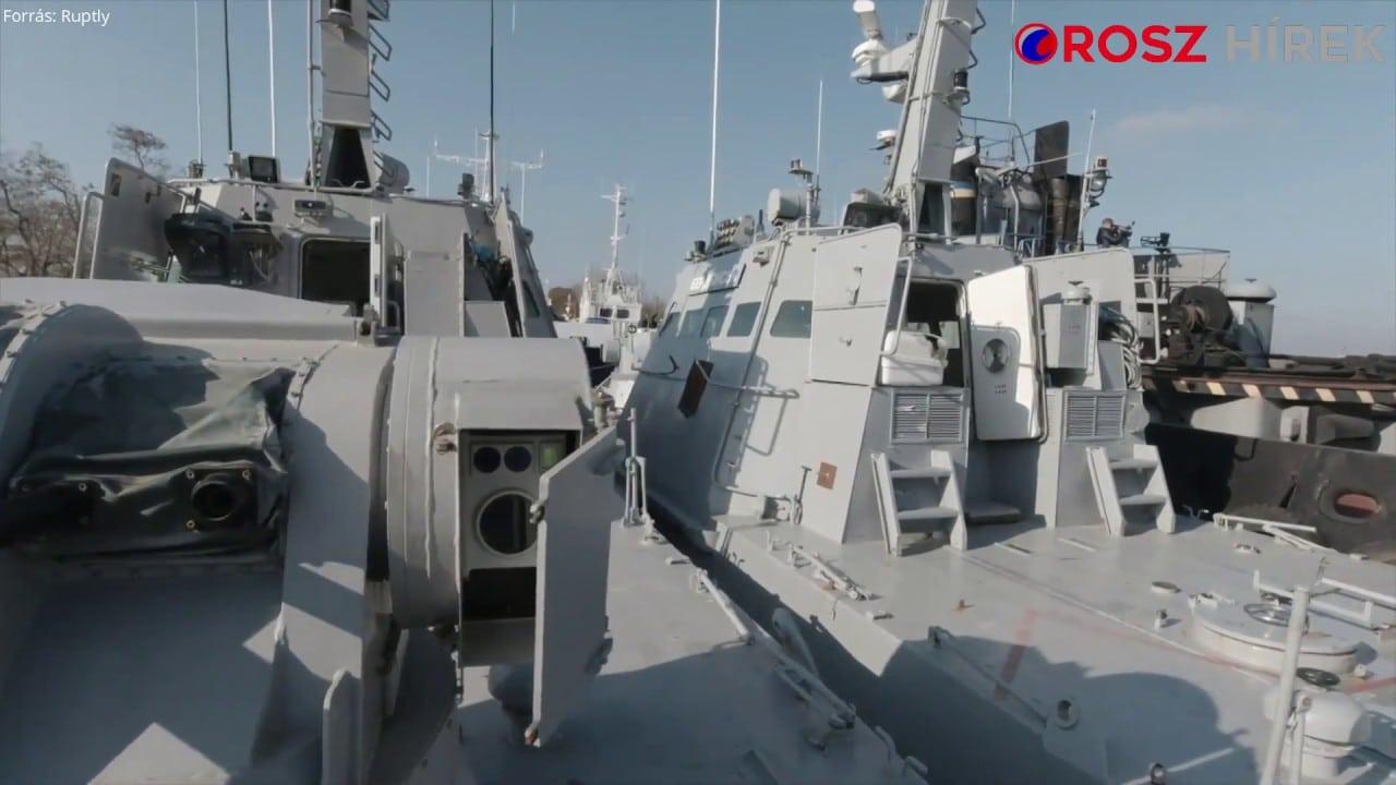 Oroszország videófelvétellel bizonyítja, hogy az ukrán hadihajókat rendben szolgáltatták vissza (+videó)