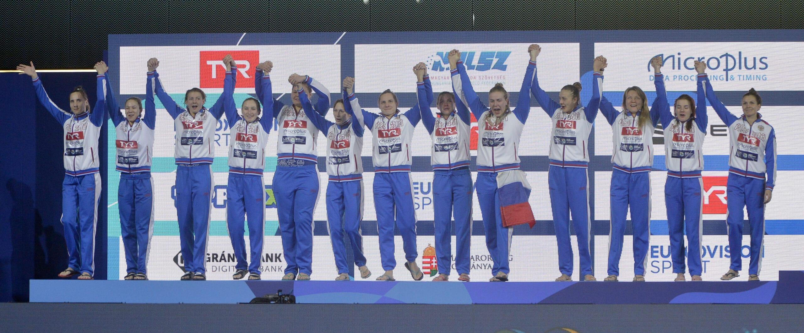 Ezüstérmes az orosz női vízilabda-válogatott a budapesti vízilabda Európa-bajnokságon
