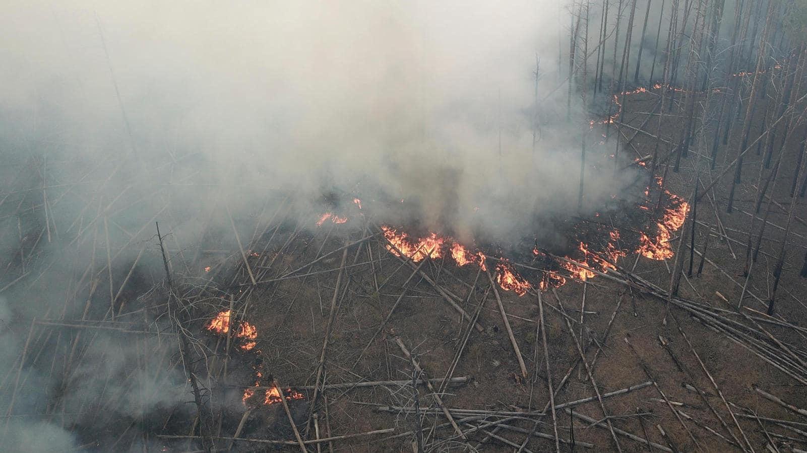Videó: csaknem két hete lángol az erdő a csernobili tiltott övezetben
